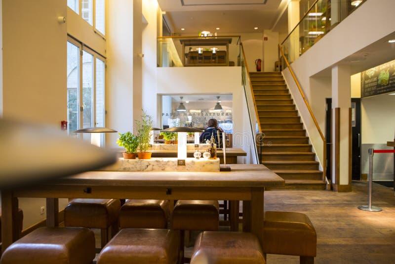 Download Germany Berlin Italian Restaurant Buffet Interior Design Elegant And Warm