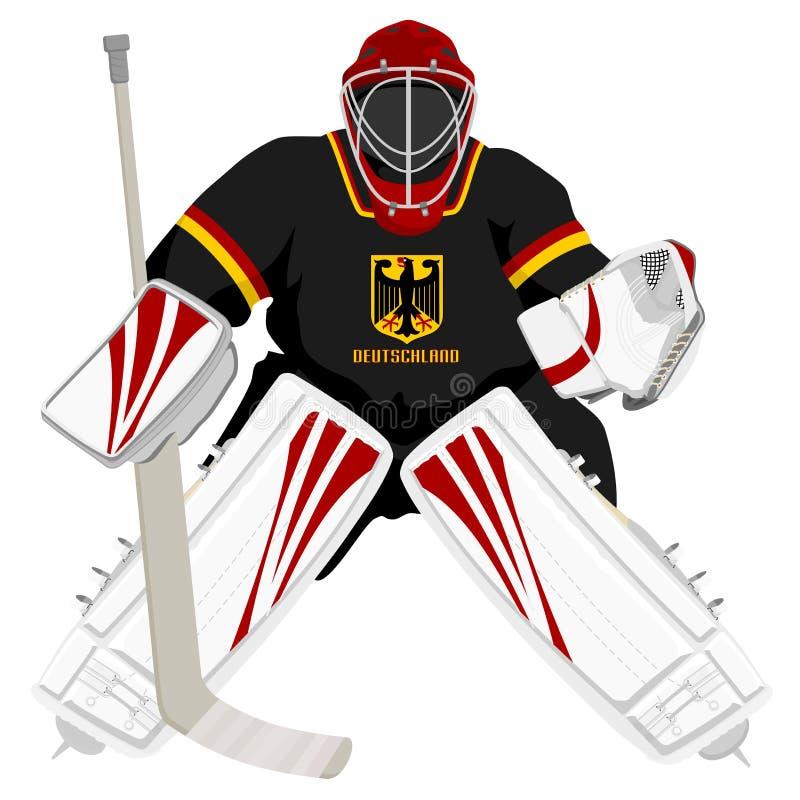 germany bramkarza drużyna hokejowa royalty ilustracja
