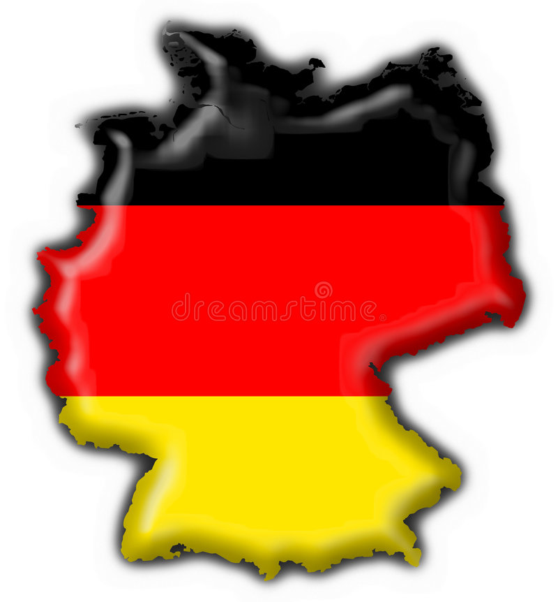 Germany button flag map shape stock illustration