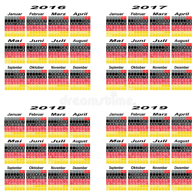 Year Calendar Germany : Germany calendar year stock photo