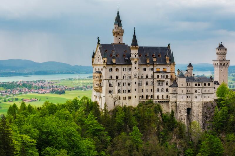 Germany - Castle Before the Rains Come- Neuschwanstein. Germany stock photo