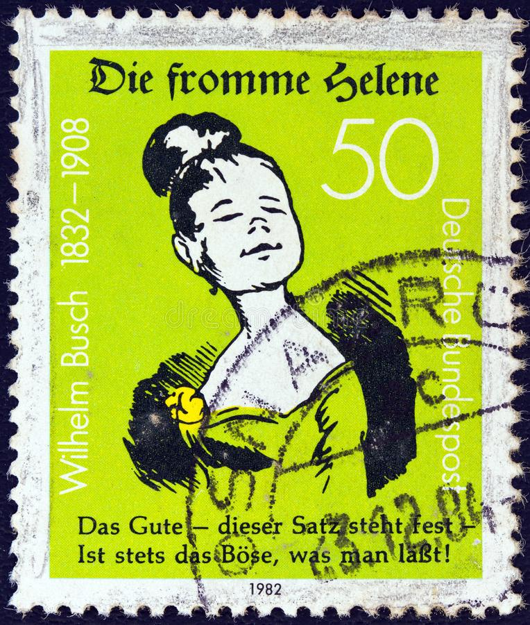 GERMANY - CIRCA 1982: A stamp printed in Germany shows Good Helene, circa 1982. royalty free stock images