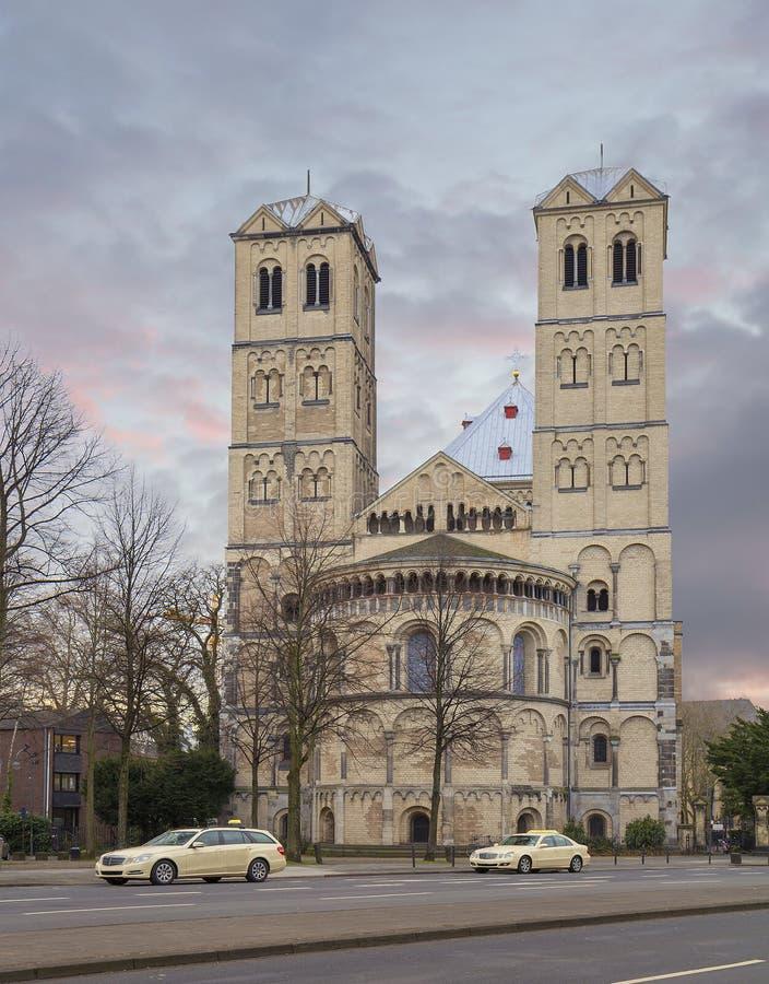 germany cologne apostolic kyrka royaltyfri foto