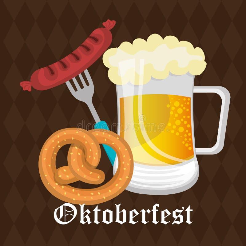 Germany cultures and oktober fest design. royalty free illustration