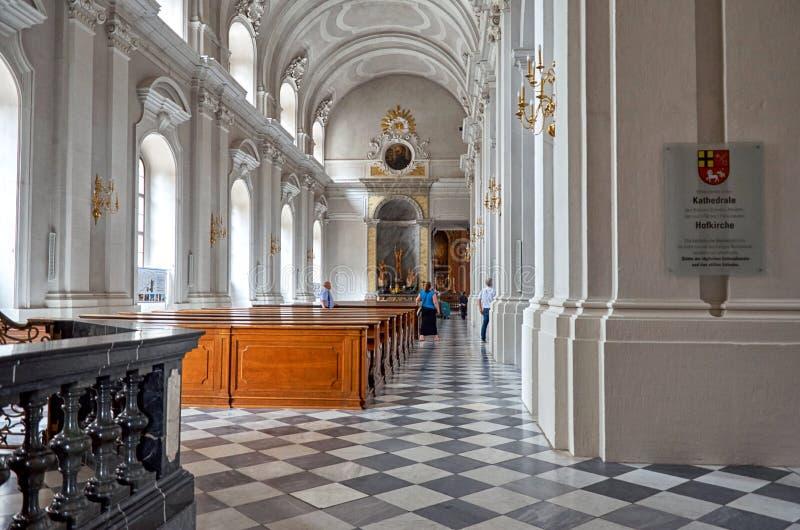 germany Domkyrka på teaterfyrkanten i Dresden 16 Juni 2016 royaltyfri bild