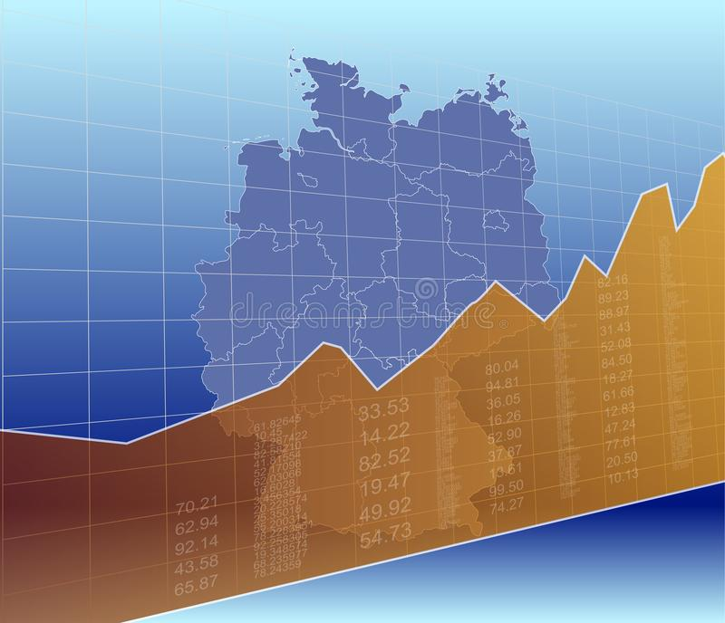 The Germany Finance and Market, Ascending, Success.  royalty free illustration