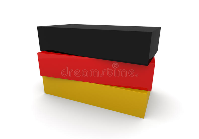 Germany Flag Blocks royalty free illustration