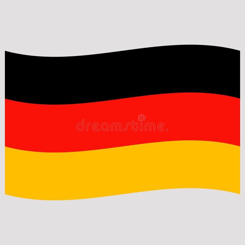 Germany flag on gray background vector illustration stock illustration