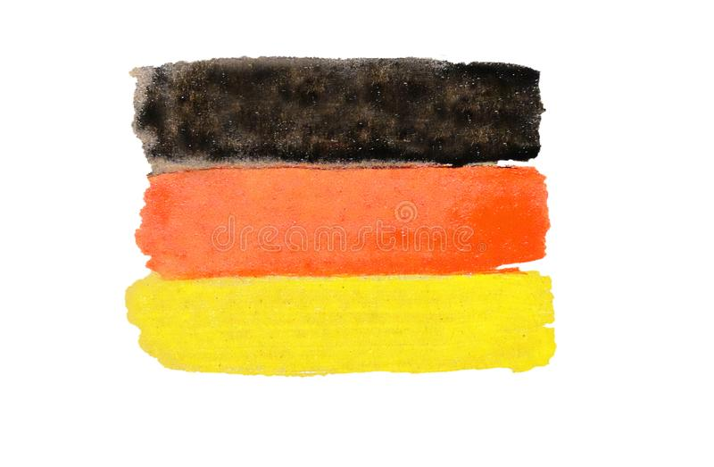 Germany flag painted with watercolor paint stock images