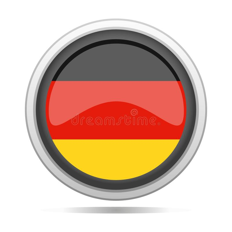 Germany Flag Round Metal Symbol Design City Vector Art stock illustration