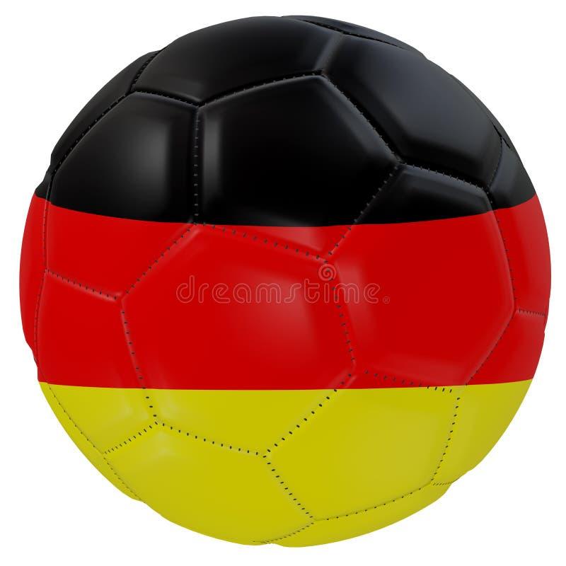 Germany flag on a soccer ball vector illustration