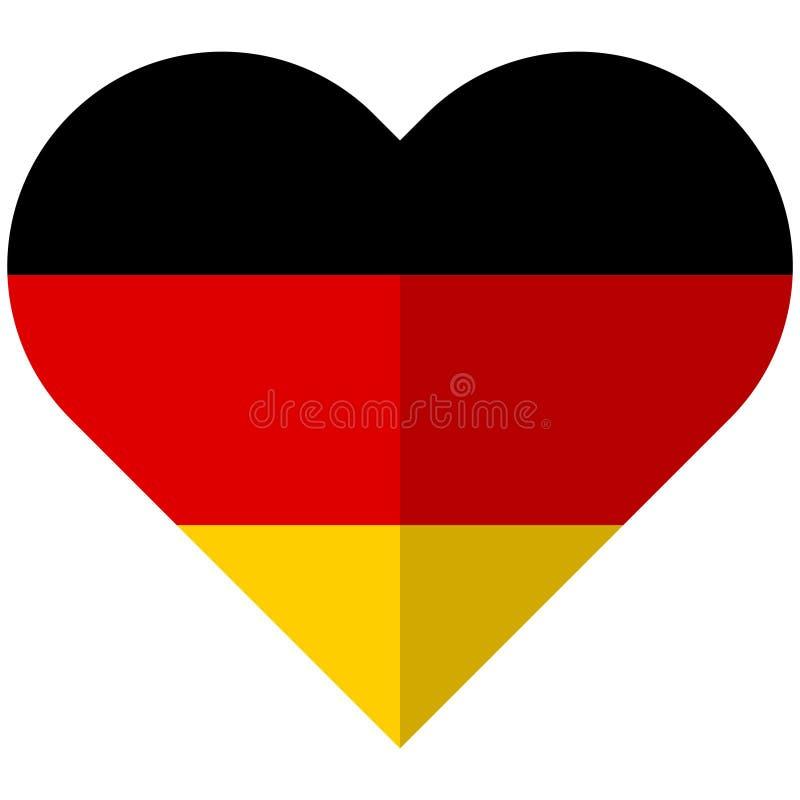 Germany flat heart flag vector illustration