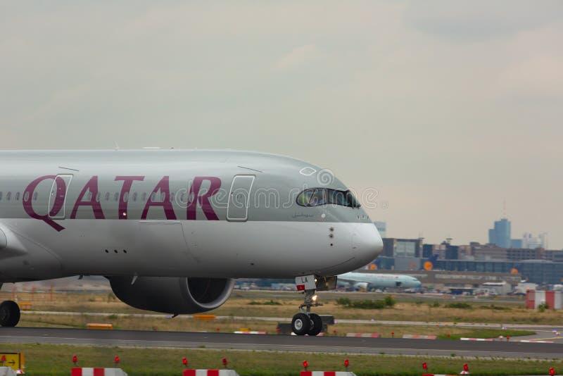 Regular flights by plane Qatar stock images