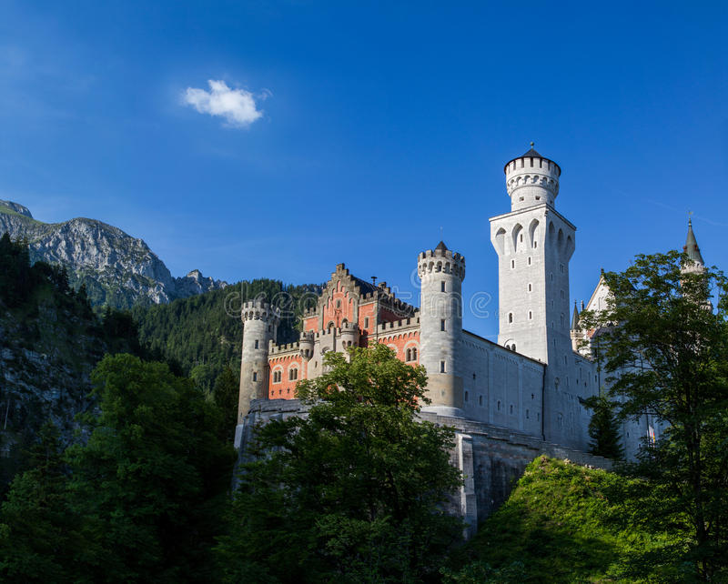 Germany,Fussen. The famous Neuschwanstein Castle. royalty free stock image