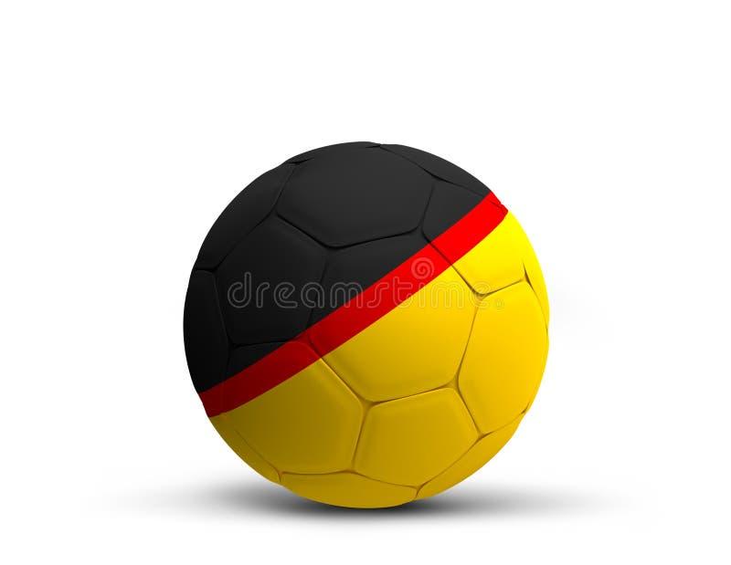 Germany german design soccer football ball 3d rendering royalty free illustration