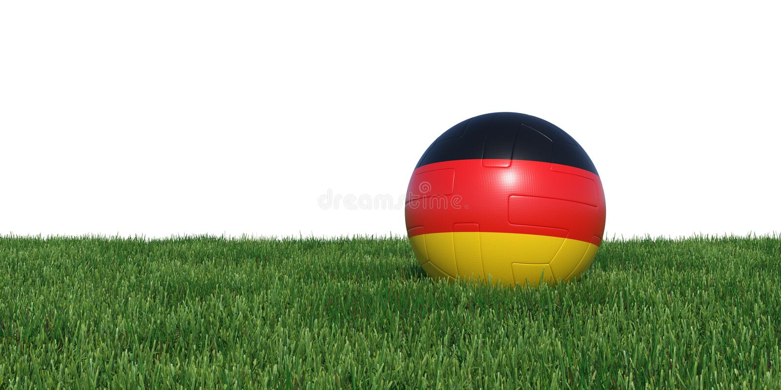 Germany German flag soccer ball lying in grass world cup 2018 royalty free illustration