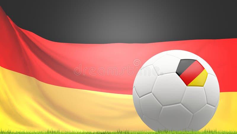 Germany german soccer football ball 3d rendering royalty free illustration