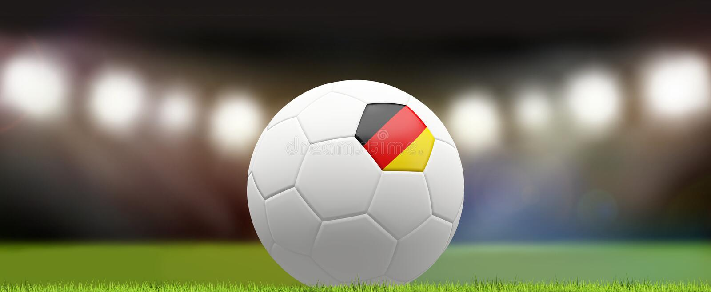Germany german soccer football ball 3d rendering stock illustration