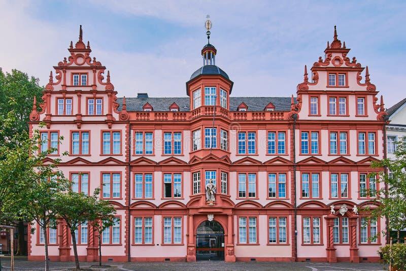 germany gutenbergmainz museum arkivfoto