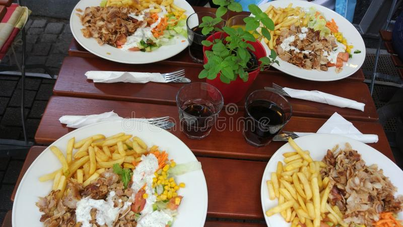 Germany Heidelberg Turkish food royalty free stock images