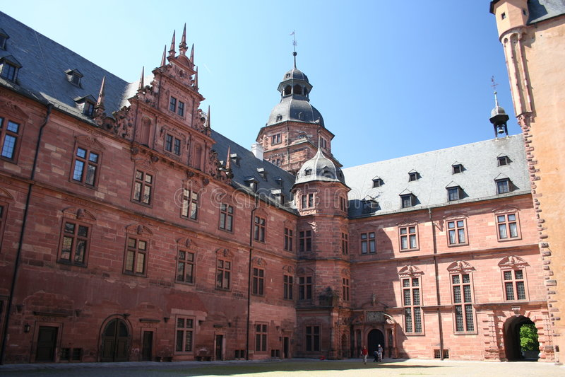 germany johannisburgschloss arkivfoto