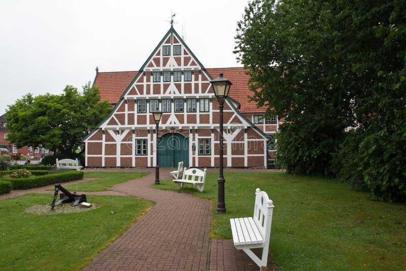 Germany, Jork, City Hall. Beautiful City Hall of Jork, Germany royalty free stock photo