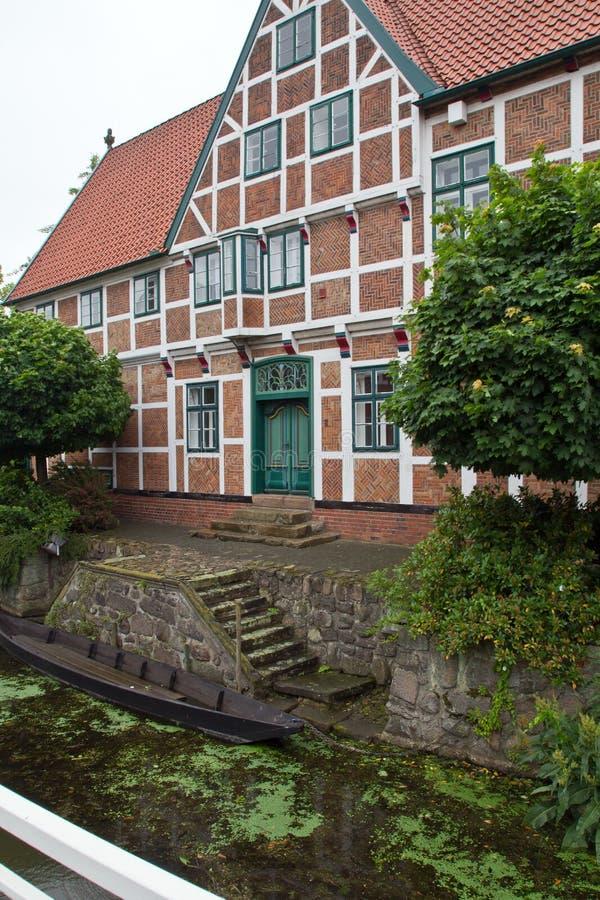 Germany, Jork, City Hall. Beautiful City Hall in Jork, Germany stock photo