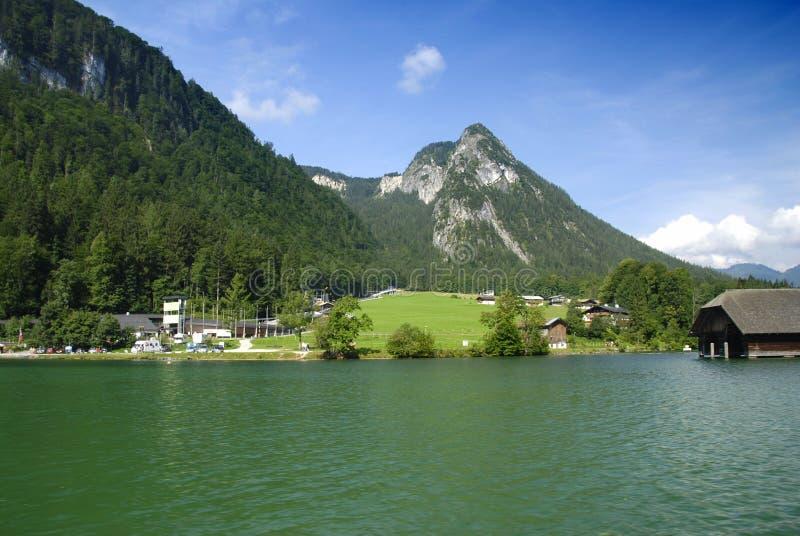 germany lake arkivbild