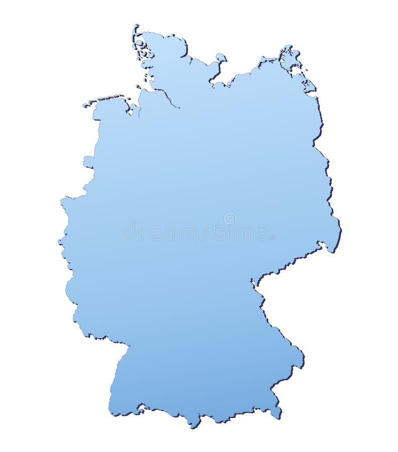 Germany map stock illustration