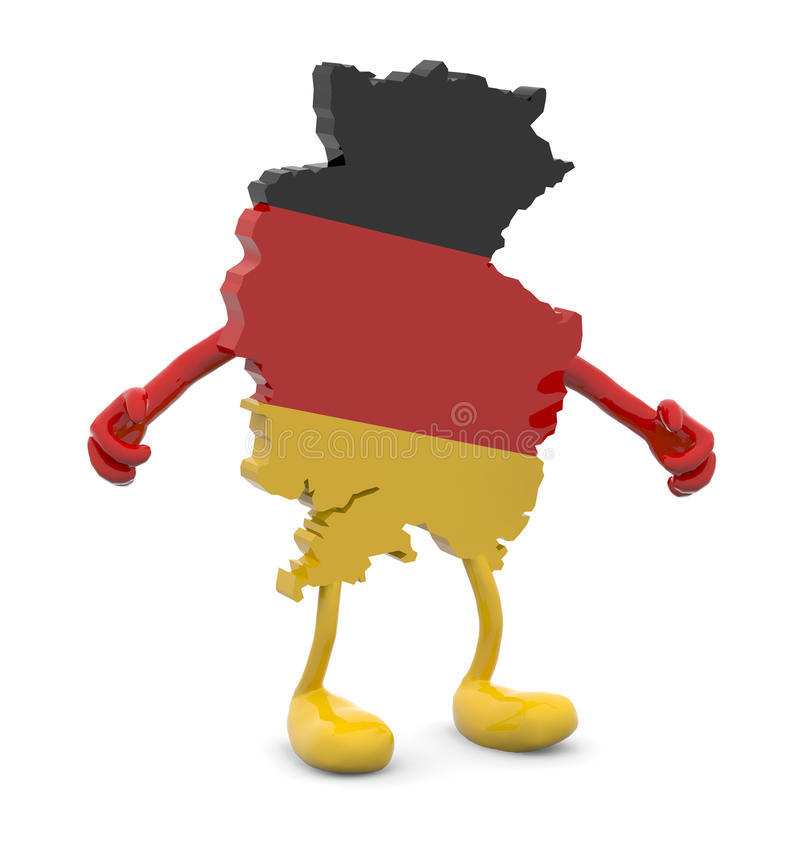 Germany Map With Arms And Legs Cartoon Stock Illustration Image - Germany map cartoon