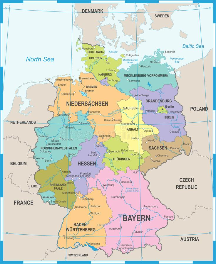 download germany map vector illustration stock illustration illustration of bremen karlsruhe 102333337
