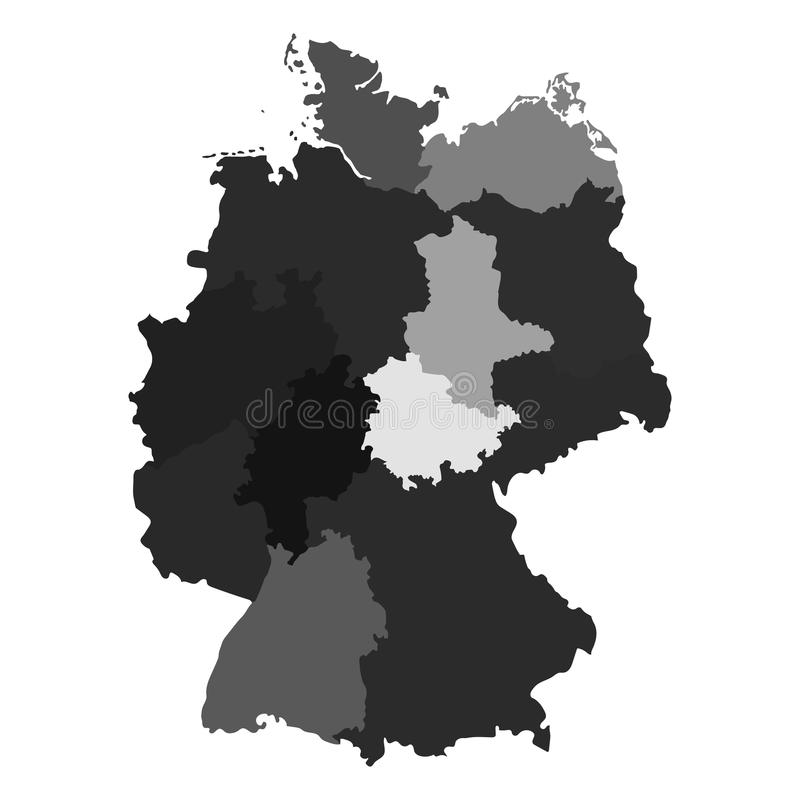 download germany map divided on regions stock vector illustration of chart information 90164037
