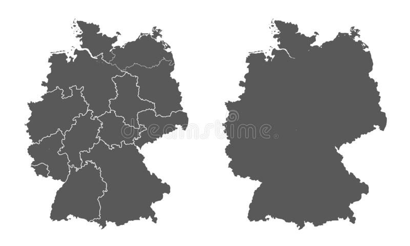 East West Germany Map Stock Illustrations – 739 East West ...
