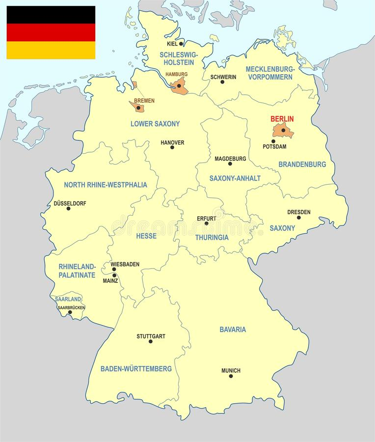 download germany map cdr format stock vector illustration of administrative 91654399