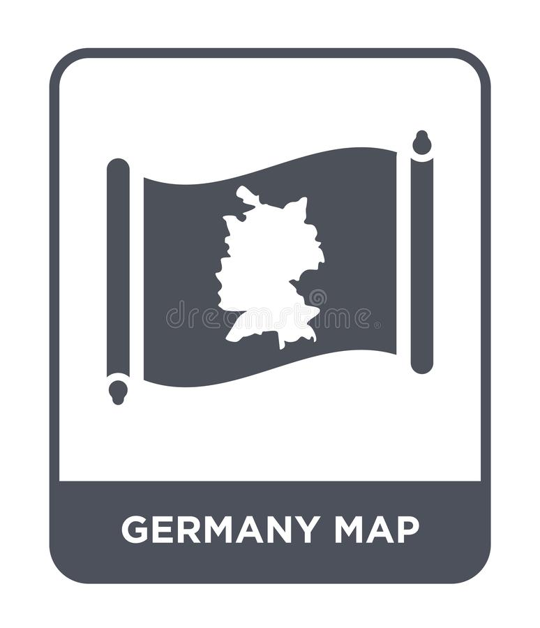 Germany map icon in trendy design style. germany map icon isolated on white background. germany map vector icon simple and modern. Flat symbol for web site vector illustration