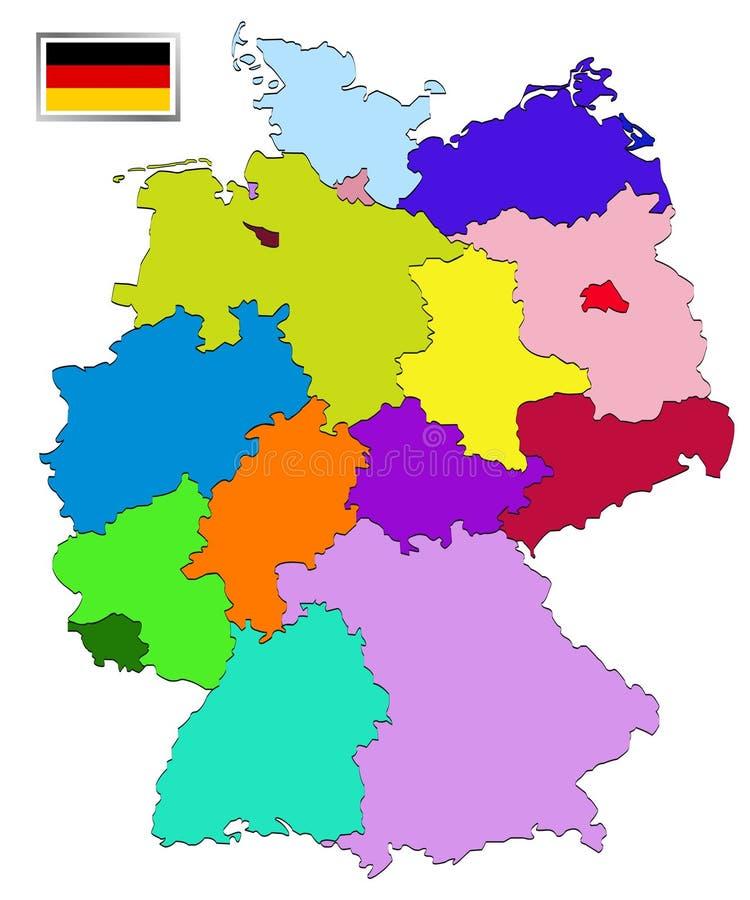 germany mapa ilustracja wektor