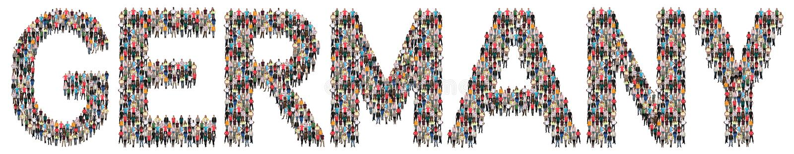 Germany multi ethnic group of people stock photography