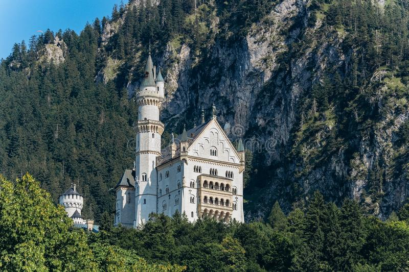 Germany, Munich - September 06, 2013. Neuschwanstein Castle home of King Ludwig otherwise known as Sleeping Beauty Castle taken stock photos