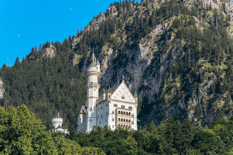 Germany, Munich - September 06, 2013. Neuschwanstein Castle home of King Ludwig otherwise known as Sleeping Beauty Castle taken royalty free stock image