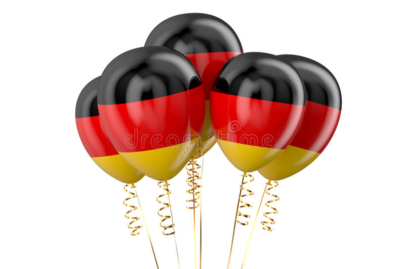 Germany patriotic balloons. Holyday concept stock illustration