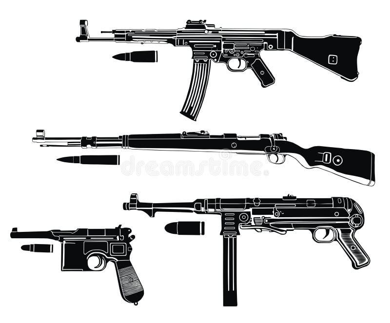 germany pistolety royalty ilustracja
