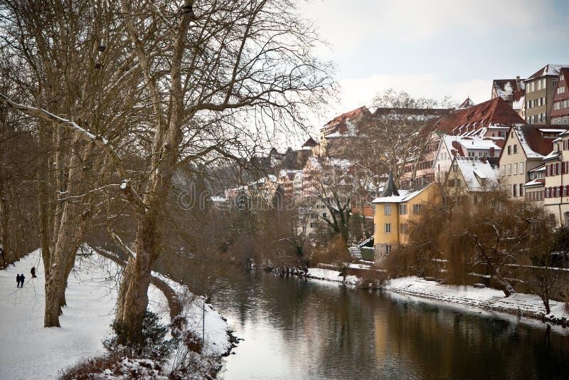germany rzeka Neckar widzieć Tubingen obraz royalty free
