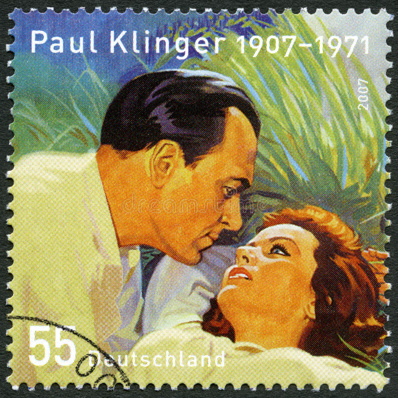 GERMANY - 2007: shows Paul Klinger Karl Heinrich Klinksik 1907-1971, actor, and Nadia Gray Kujnir 1923-1994 stock images