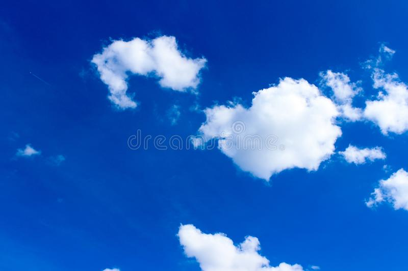 Germany sky overcast with clouds, blue sky with fainted and dispersed clouds stock images