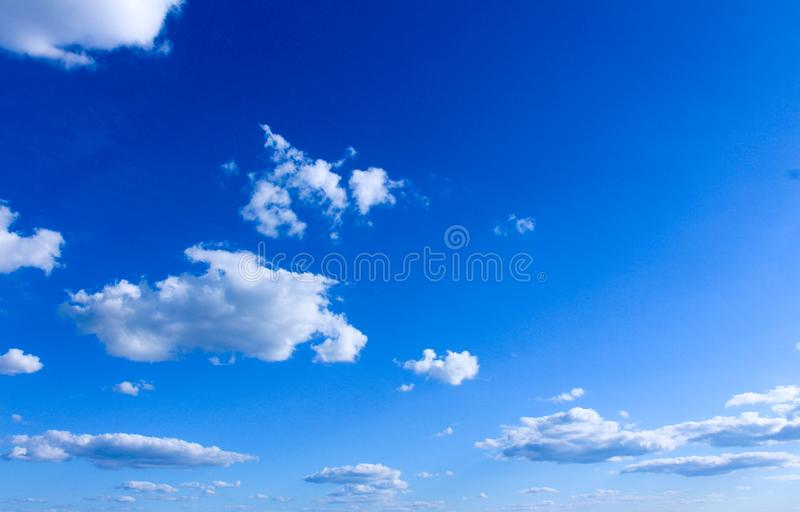 Germany sky overcast with clouds, blue sky with fainted and dispersed clouds royalty free stock photo