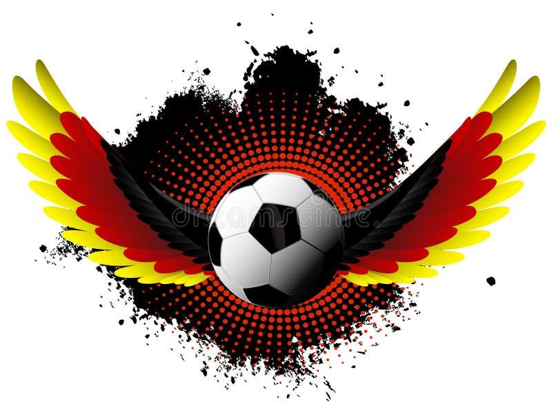 Germany Soccer Ball Wings Stock Vector Illustration Of Black 36544931