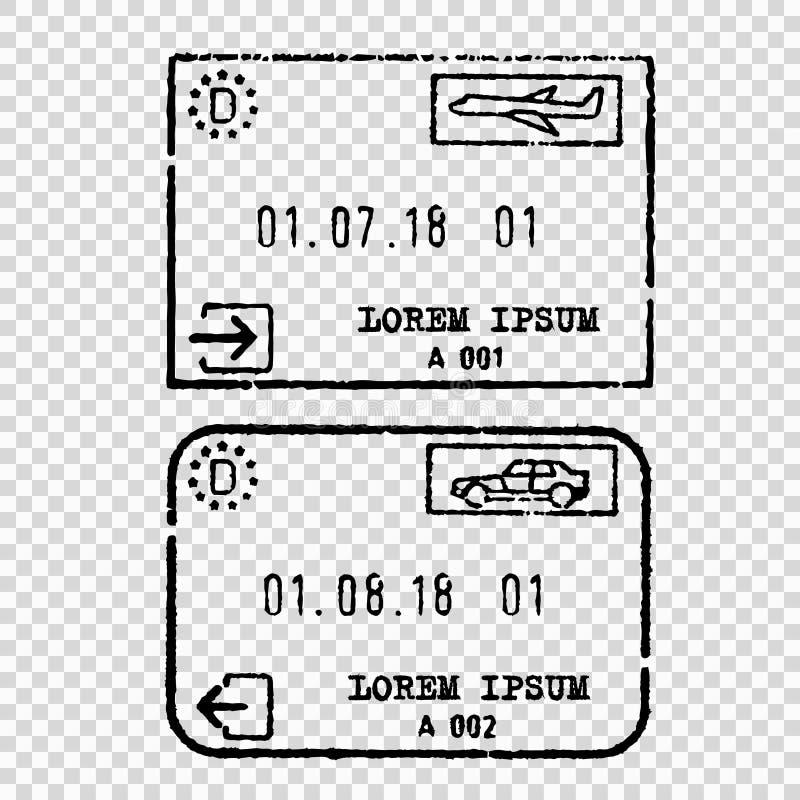 Germany tourist visa stamp stock illustration