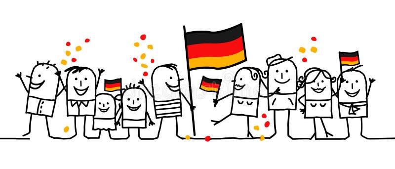 germany wakacje obywatel ilustracji