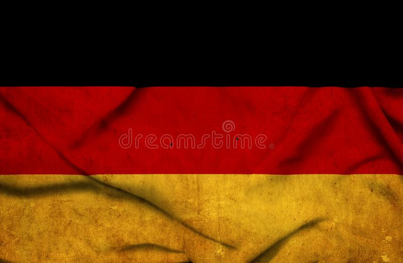 Germany waving flag stock images