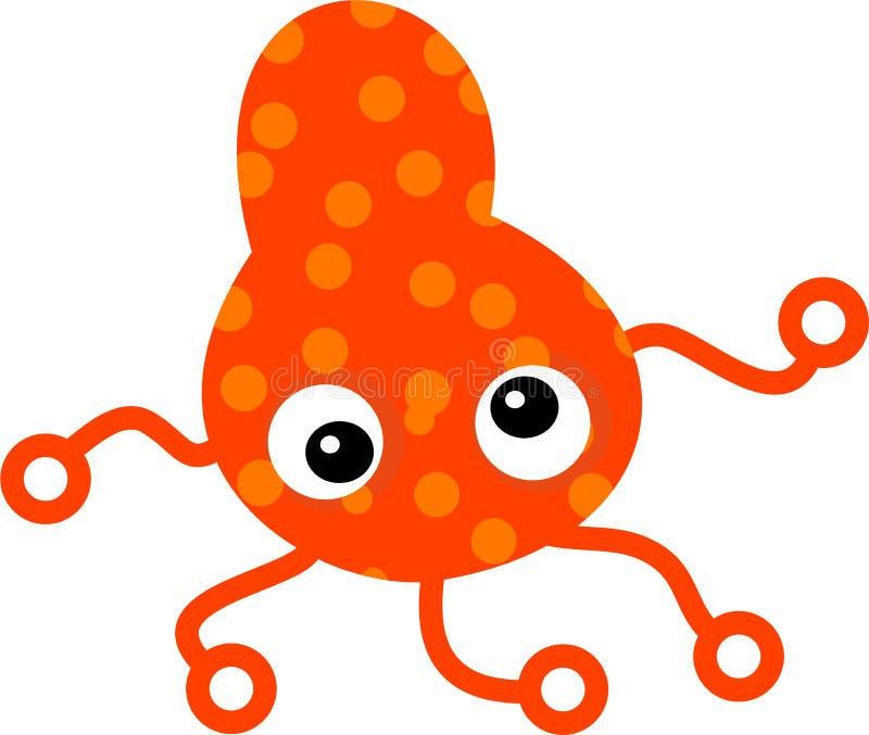 Germe tacheté orange illustration de vecteur